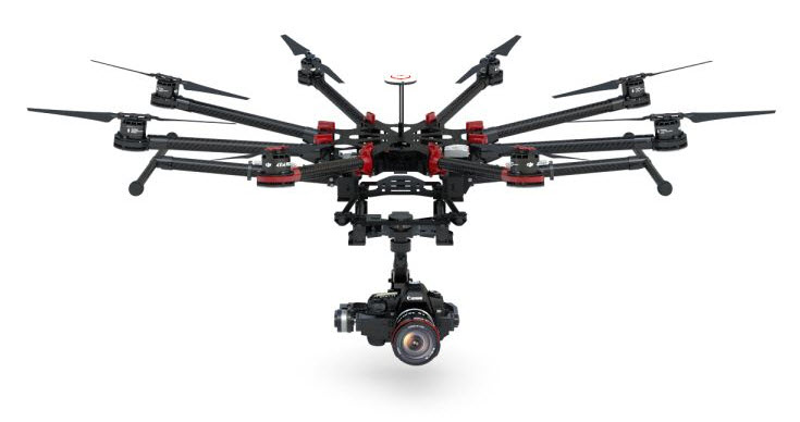 dji spreading wings s1000 в полете